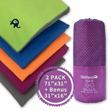 Travel towel microfiber (PURPLE) 2 packs