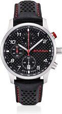 Audi Sport Chronograph Watch Men's Watch Carbon Leather Black/Silver 3101900500