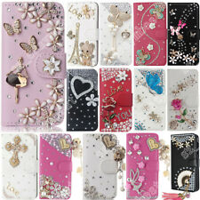 Colorful Bling Diamond Magnetic Wallet Shell Flip Leather Case Cover for iPhone