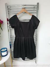 Topshop Black Satin Dress 12