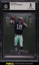 1998 Finest Football Peyton Manning ROOKIE RC #121 BGS 8 NM-MT