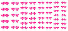 Pink Bow Nail Art Waterslide Decals - Salon Quality!