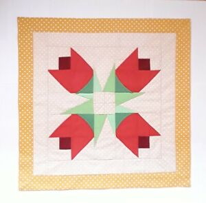 """New handmade  patchwork quit  table topper  / runner  or wall decor   23"""" square"""