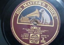 78 rpm CARL BRISSON camille / there`s something about you that`s different