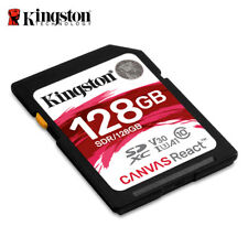 Kingston 128GB Canvas React SDXC Memory Card UHS-I U3 up to 100MB/s 4K Ultra HD