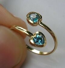 GENUINE 9ct Gold filled toe ring aquamarine,This is stunning LAST FEW LEFT 19