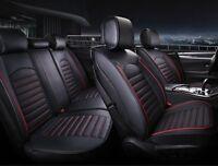 Negro Rojo Piel Pu Juego Completo Cubiertas para Asientos Peugeot 207 307 308