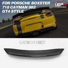 For 16 PORSCHE Boxster 718 Cayman 982 GT4 Tape Carbon Rear duckbill spoiler Wing