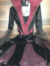 Creepy Costume Dracula Woman Vampire Fancy Dress Outfit New Halloween Red Black