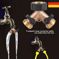 4 Wege Verteiler Wasserverteiler 3//4 Zoll Absperrhähnen Tap Schlauch Splitter
