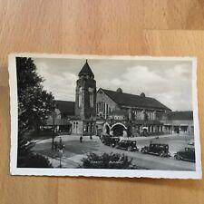 Ak Giessen Bahnhof echte Fotografie gel. 1940 als Feldpost / Luftpost