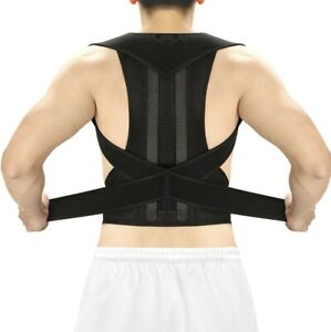 Adjustable Posture Corrector Clavicle Back Support Lumbar Brace Belt Free Shipin