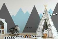 Original wall deco Mural sticker children's room nursery DAYCARE mountains tents
