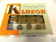 KLUSON SUPREME KMTFN18-BK F TYPE MANDOLIN TUNERS IN NICKEL W/ BLACK BUTTONS
