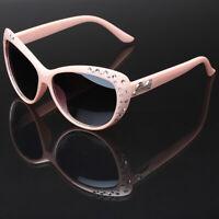 Cat Eye Kids Girls Rhinestone Fashion Ladies Sunglasses Children Youth Teen