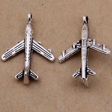 20pc Small Pendant Charm Airplane Pendant Beads Retro Jewelry Accessories V448