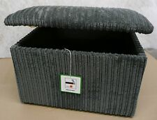 Large Storage Box/ Pouffee With a Lift up Lid in Grey Jumbo Cord Fabric...ideal
