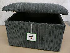"Large Size 20"" x 20"" Grey Jumbo Cord Pouffes / Storage Box / Footstools"