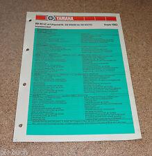 Inspektionsblatt Yamaha RD 80 LC Typ 10X Baujahr 1983
