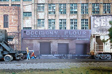 #132 HO scale background building flat   OCCIDENT FLOUR  * FREE SHIPPING*