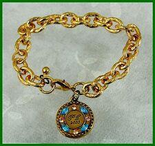 Chunky 2003 Service Award Charm Bracelet From Estate of Retired AVON Lady Rep