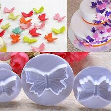 Butterfly Shape 3 Pcs/Set Cookie 3D Plastic Fondant Cake Cortador de galletas