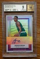 2017 Panini status signatures Jayson Tatum Auto autograph rookie card bgs 9 /10