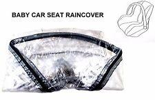 Siège auto bébé PVC Raincover Double Zip Élastique Fit taille standard de ventilation