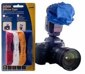 Dorr 4-Colour Gel Diffuser Blue Red Yellow White for Hotshoe Flashgun Speedlight