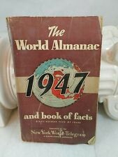 1947 The World Almanac and Book of Facts, New York World Newspaper Vintage (K1)