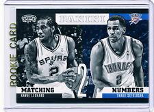 RC~KAWHI LEONARD 2012-13 Panini Matching Numbers ROOKIE CARD~'12~THABO SEFOLOSHA
