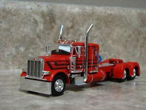 DCP 1/64 Red Black Peterbilt Semi Truck Farm Toy