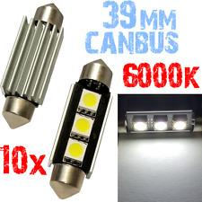 10x Ampoule 39mm 6000k LED 3x 5050 Blanc Habitacle Moto Plaque C5W 12V 2C12 2C12