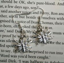 HANDCRAFTED EARRINGS - SPIDER - SILVER PLATED