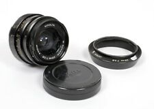 Minolta M-Rokkor 28mm F2.8 Leica M mount lens with shade and Leitz rear cap