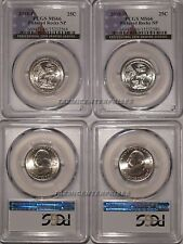 2018 P & D Pictured Rocks NP Quarter 2 Coin Set 25c PCGS MS66 USA Flag