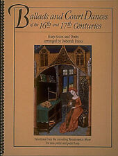 Ballads & Court Dances 16th 17th Centuries Harp Sheet Music Hal Leonard Book