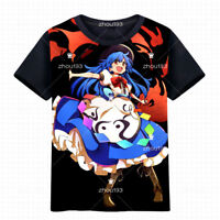 TouHou Project Hinanawi Tenshi T-shirt Short Sleeve Unisex Casual TEE M-3XL#0904
