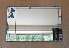 Rennie Mackintosh UK Fatto a Mano COLORATI VETRO EFFETTO SPECCHIO BLUEBELL 61x41cm