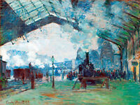 Arrival of the Normandy Train Gare Saint-Lazare by Claude Monet A1+ Art Print