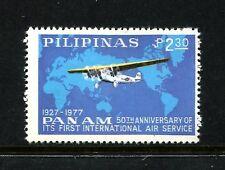 Philippines 1337, MNH.Michel 1208. Fokker F Villa over World map,1977.