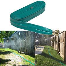 Garden Soaker 2 Tube Sprinkler Hose 50 Ft Consistent Gentle Spray Durable Vinyl