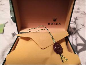 Rolex Box Boite de Montre Haute qualite  Avec Papiers Haute Qualite