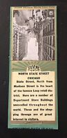 Old Matchbook Cover North State Street Chicago Souvenir