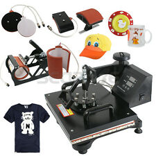 Used 5in1 Heat Press Machine Digital Transfer Sublimation T-Shirt Mug Hat Cap