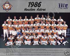 1986 HOUSTON ASTROS BASEBALL 8X10 TEAM PHOTO