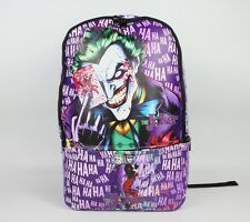 Anime BATMAN Joker Backpack PU Casual Shoulder Bag Children Schoolbag BookBag