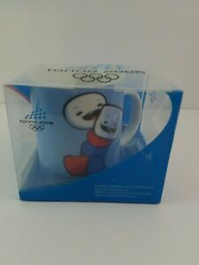 Torino 2006 Olympics Winter Games Italy Mascots Neve Gliz Coffee Cup Mug in Box