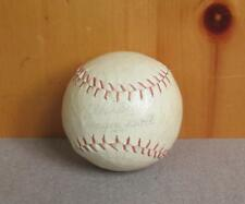 Vintage White Leather Bounder Baseball Official League Ball Red Stitch Japan