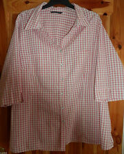Evans Check 3/4 Sleeve Tops & Shirts for Women